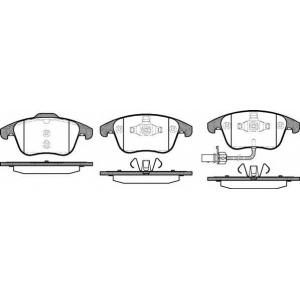 REMSA 1219.11 Колодка торм. SEAT ALHAMBRA 2010-;VW SHARAN 2010- передн. (пр-во REMSA)