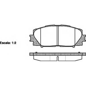 REMSA 1224.00 Колодка торм. TOYOTA YARIS 1.0 VVT-I, 1.3 VVT-I,1.4D-4D 01/06- передн. (пр-во REMSA)