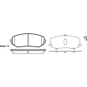 REMSA 1225.02 Колодка торм. SUZUKI GRAND VITARA передн. (пр-во REMSA)