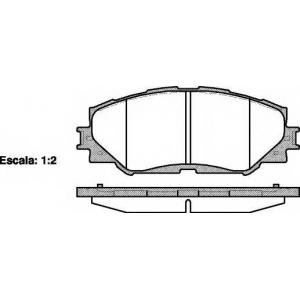 REMSA 1232.00 Колодка торм. TOYOTA AURIS, RAV 4 передн. (пр-во REMSA)