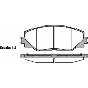 REMSA 1234.00 Колодка торм. TOYOTA RAV 4 передн. (пр-во REMSA)