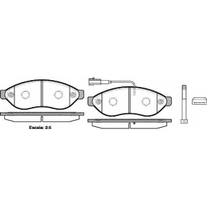 REMSA 1237.01 Колодка торм. CITROEN JUMPER,FIAT DUCATO,PEUGE BOXER 06- передн. (пр-во REMSA)