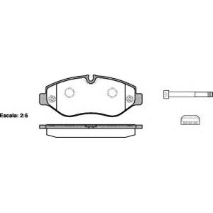 REMSA 1245.00 Колодка торм. MB SPRINTER передн. (пр-во REMSA)
