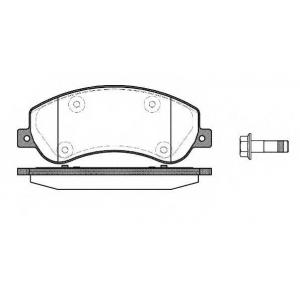 REMSA 1250.00 Колодка торм. VW AMAROK (09/10-)передн. (пр-во REMSA)