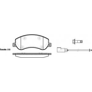 REMSA 1250.02 Колодка торм. FORD TRANSIT передн. (пр-во REMSA)