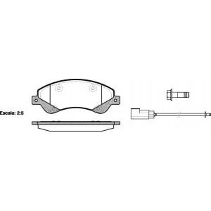 REMSA 1251.02 Колодка торм. FORD TRANSIT передн. (пр-во REMSA)