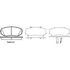 REMSA 1267.02 Колодки гальмівні дискові