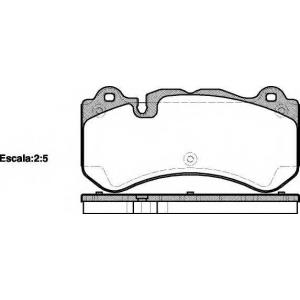 REMSA 127900 Колодки тормозные дисковые передние, комплект
