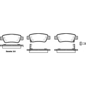 REMSA 1290.02 Колодка торм. HONDA CR-V задн. (пр-во REMSA)