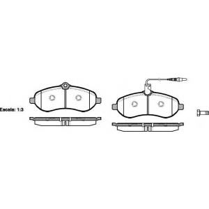 REMSA 1292.01 Колодка торм. FIAT SCUDO 2.0D 07-,PEUGEOT EXPERT 07-,CITROEN JUMPY 07- передн. (пр-во REMSA)