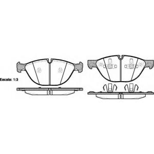 REMSA 1298.00 Колодка торм. BMW X5, X6 передн. (пр-во REMSA)