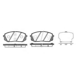 REMSA 1302.22 Колодка торм. HYUNDAI I40 2011- передн. (пр-во REMSA)