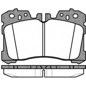 Комплект тормозных колодок, дисковый тормоз 132000 remsa - LEXUS LS (UVF4_, USF4_) седан 460