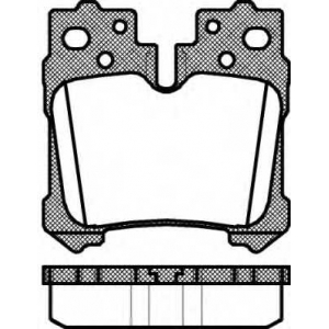 REMSA 1321.00 Колодки гальмівні дискові