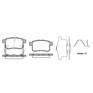REMSA 1332.12 Колодки гальмівні дискові
