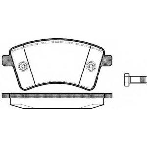 Комплект тормозных колодок, дисковый тормоз 135100 remsa - RENAULT KANGOO (KW0/1_) вэн 1.6 (KW00, KW0Y)