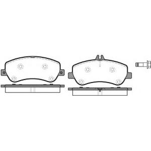 REMSA 1377.00 Колодка торм. MB GLK-CLASS(X204) 220-350 08- передн. (пр-во REMSA)