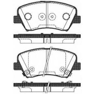 REMSA 1412.32 Колодка торм. HYUNDAI VELOSTER 1.6I 16V GDI 11/03- передн. (пр-во REMSA)