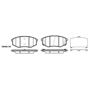REMSA 1426.02 Колодка торм. HYUNDAI IX 20 1.4, 1.4 CRDI, 1.6, 1.6 CRDI 11/10- передн. (пр-во REMSA)