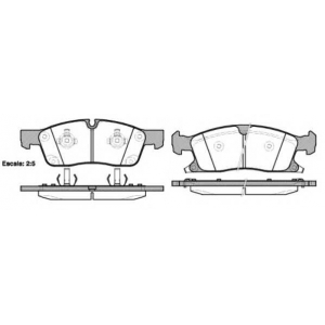 REMSA 1430.02 Колодка торм. JEEP GRAND CHEROKEE 2011- 18 WHEELS передн. (пр-во REMSA)