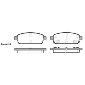 REMSA 1432.02 Колодка торм. CHEVROLET CRUZE, ORLANDO передн./задн. (пр-во REMSA)