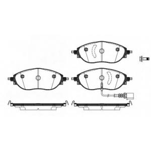 REMSA 1470.01 Колодка торм. VW PASSAT передн. (пр-во REMSA)