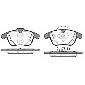 REMSA 1482.00 Колодка торм. FORD GALAXY 06-,MONDEO IV 07-,S-MAX 06-;VOLVO S60 10- передн. (пр-во REMSA)