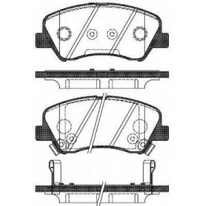 REMSA 1488.02 Колодки гальмівні дискові