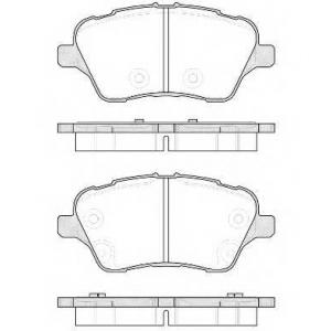 REMSA 1514.00 Комплект тормозных колодок, дисковый тормоз Форд Б-Макс
