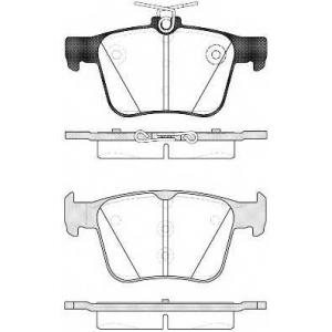 REMSA 1516.10 Колодка торм. VW GOLF VII 2.0 2013-,AUDI A3 2012- задн. (пр-во REMSA)