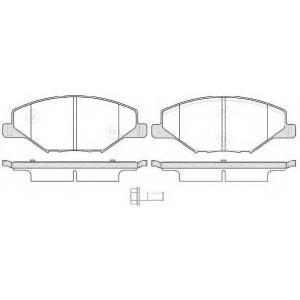 REMSA 1553.00 Колодка торм. SKODA FABIA 1.2-1.6 2007-2014, VW POLO 1.6 2010- передн. (пр-во REMSA)