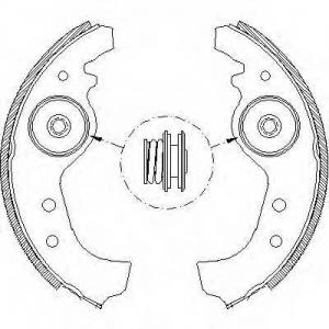 REMSA 401501 Комплект тормозных колодок