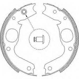 REMSA 4148.00 Колодка торм. барабан. MITSUBISHI PAJERO SPORT 2.5TD 03-,3.0 V6 00- (пр-во Remsa)