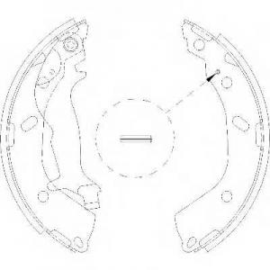 REMSA 4193.00 Колодка торм. барабан. HYUNDAI GETZ 1.1, 1.4, 1.6, 1.5CRDI (пр-во Remsa)