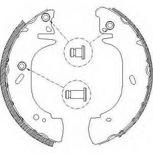 REMSA 4306.01 Колодки гальмівні барабанні