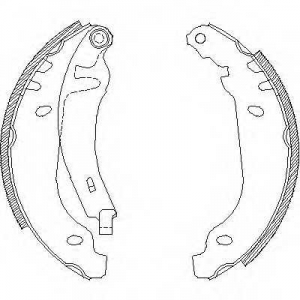 REMSA 450601 Комплект тормозных колодок