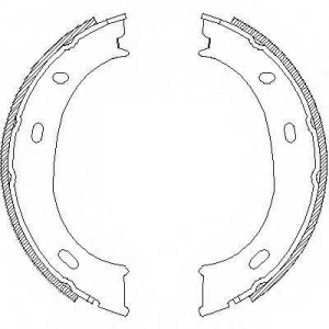 REMSA 4710.01 Колодки гальмівні барабанні