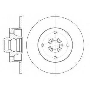 REMSA 6024.00 Диск тормозной VW GOLF IV, POLO задн. (пр-во REMSA)
