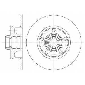 REMSA 6025.00 Диск тормозной SEAT, VW, задн. (пр-во REMSA)