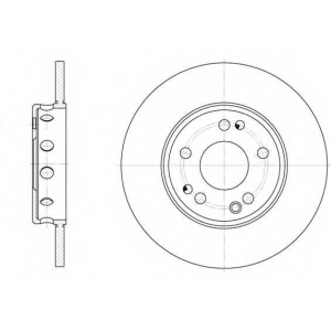 REMSA 6059.00 Диск тормозной OPEL ASTRA F передн. (пр-во REMSA)