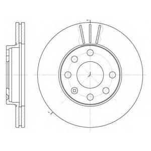 REMSA 6061.10 Диск тормозной DAEWOO LANOS R13 передн., вент. (пр-во REMSA)