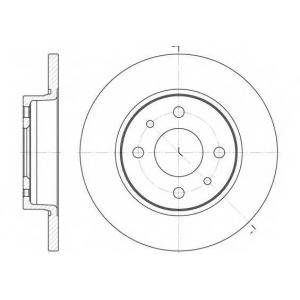 REMSA 6089.00 Диск тормозной ВАЗ 2108 передний (пр-во REMSA)