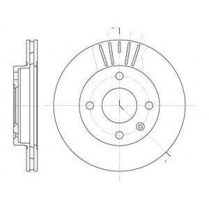 REMSA 6096.10 Диск тормозной FORD ESCORT, FIESTA, ORION передн., вент. (пр-во REMSA)