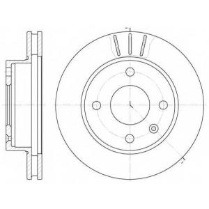 REMSA 6097.10 Диск тормозной FORD ESCORT, ORION, SIERRA передн., вент. (пр-во REMSA)