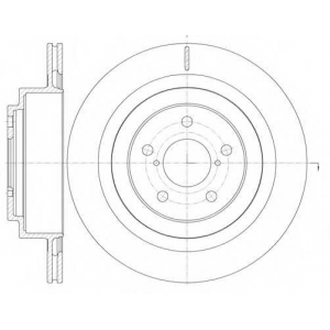 REMSA 61001.10 Диск тормозной SSANGYONG REXTON 2.7-3.2 02-  задн. (пр-во REMSA)