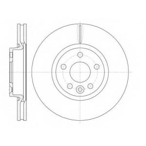 REMSA 61019.10 Диск тормозной FORD GALAXY, MONDEO передн., вент. (пр-во REMSA)