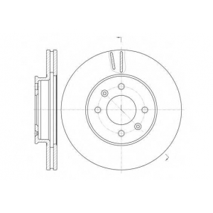 REMSA 61023.10 Диск тормозной (пр-во REMSA)