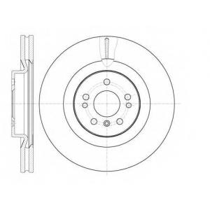 REMSA 61030.10 Диск тормозной MB GL-CLASS передн., вент. (пр-во REMSA)