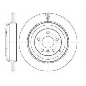 REMSA 61031.10 Диск тормозной MB GL-Class (X164) (09/06-) задн. (пр-во REMSA)