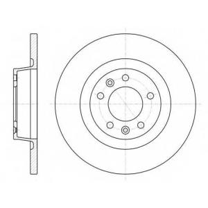 REMSA 61053.00 Диск тормозной CITROEN JUMPY,FIAT SCUDO,PEUGEOT EXPERT 1.6 07- передн. (пр-во REMSA)